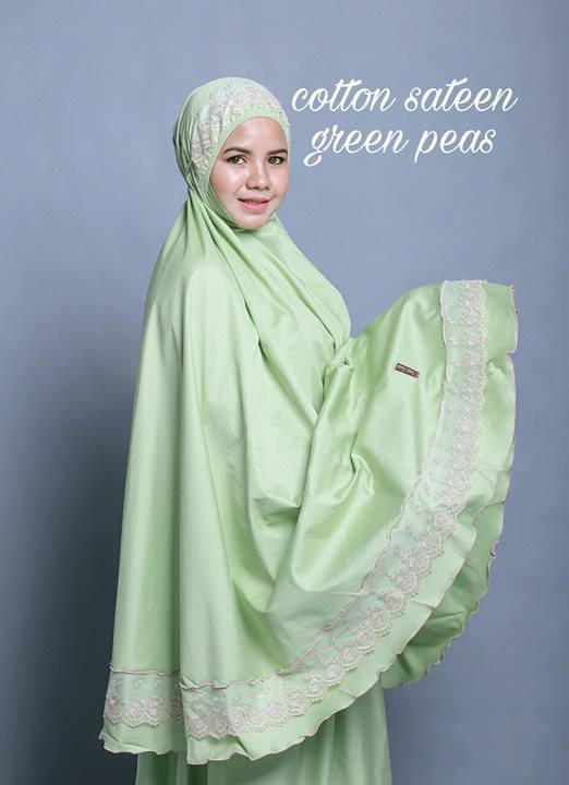 telekung-renda-premium-cotton-sateen-green-peas