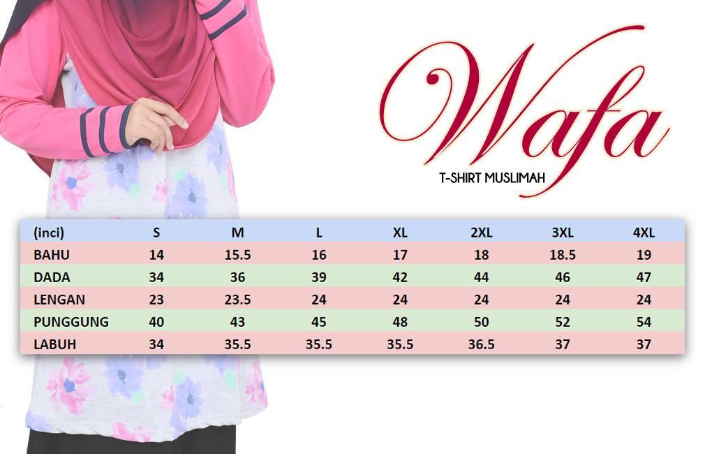 tshirt-muslimah-wafa-ukuran