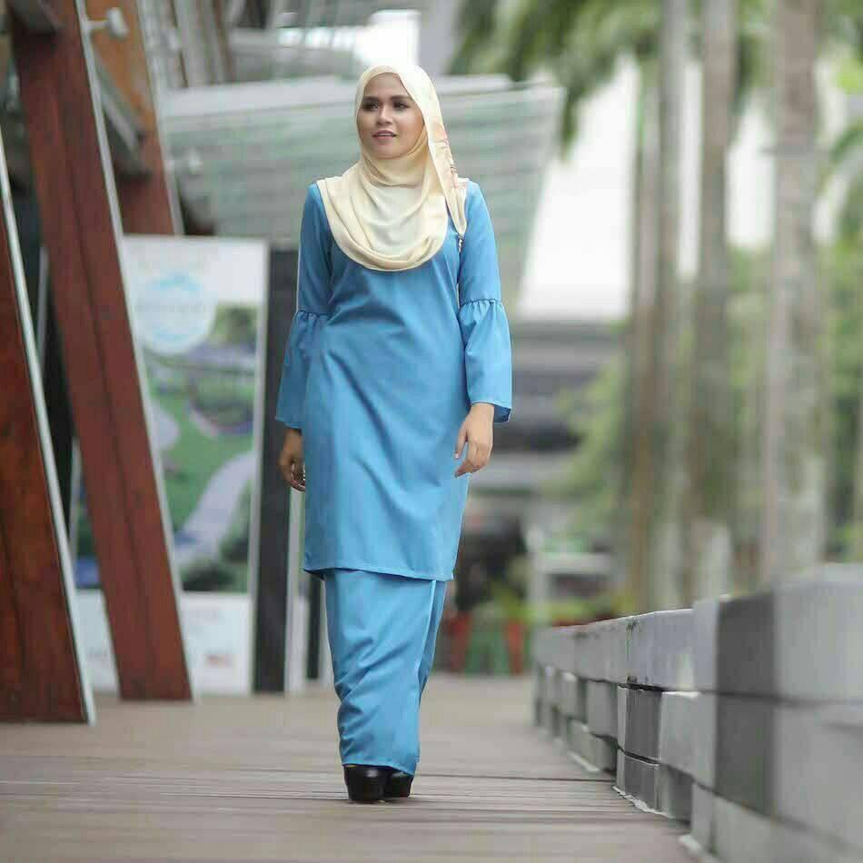 baju-kurung-baby-doll-blue