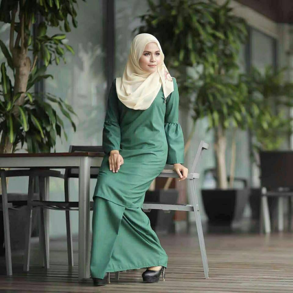 baju-kurung-baby-doll-green-2