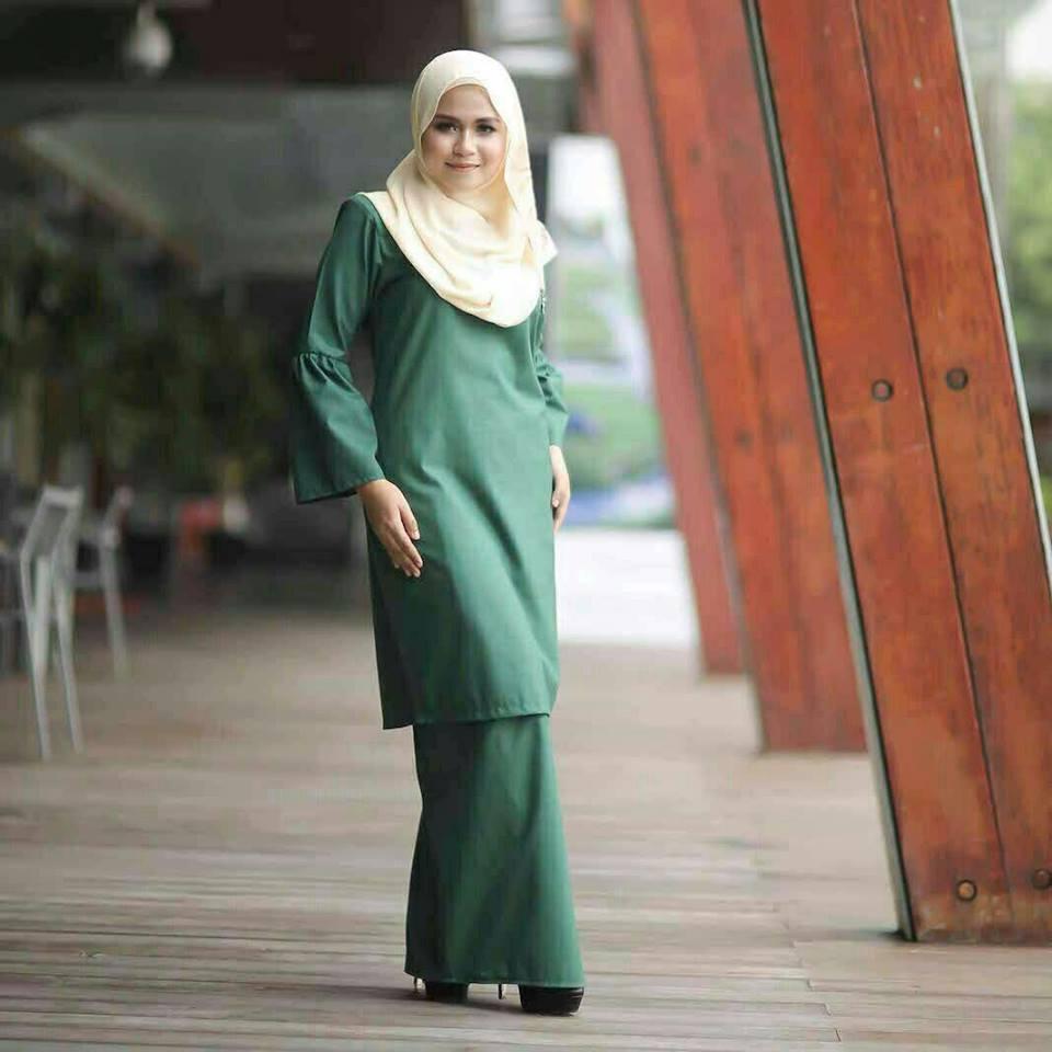baju-kurung-baby-doll-green