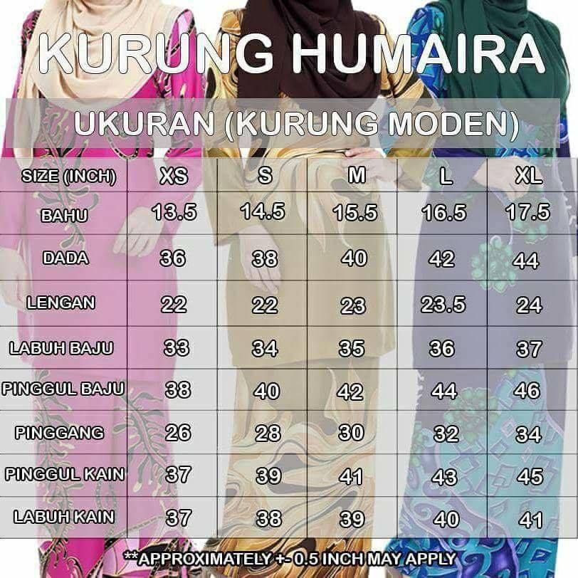 baju-kurung-moden-batik-humaira-ukuran