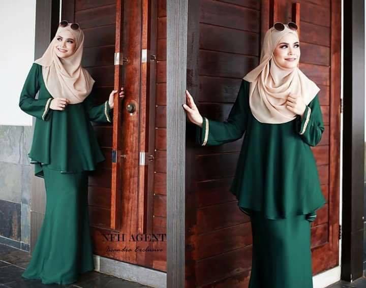baju-kurung-moden-issandra-emerald-green