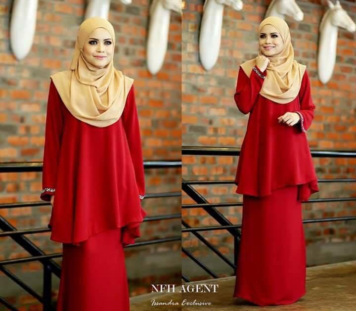 baju-kurung-moden-issandra-red