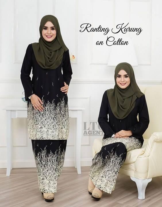 baju-kurung-moden-motif-ranting-black