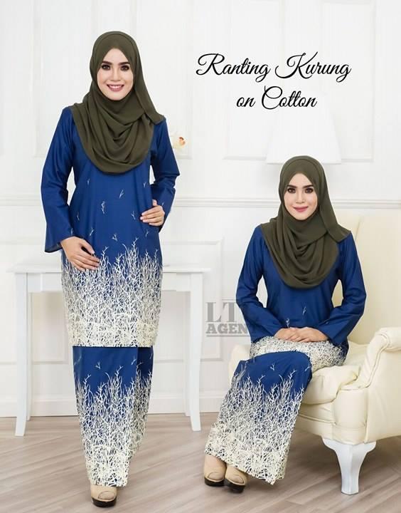 baju-kurung-moden-motif-ranting-navy-blue