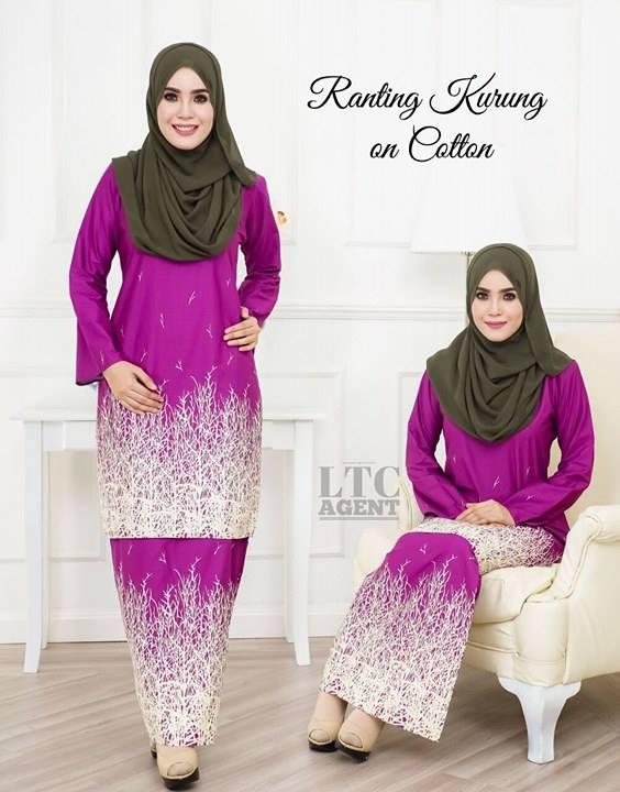 baju-kurung-moden-motif-ranting-purple