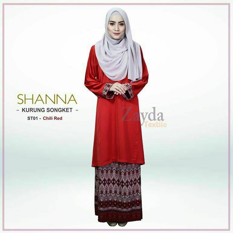baju-kurung-songket-shanna-chili-red