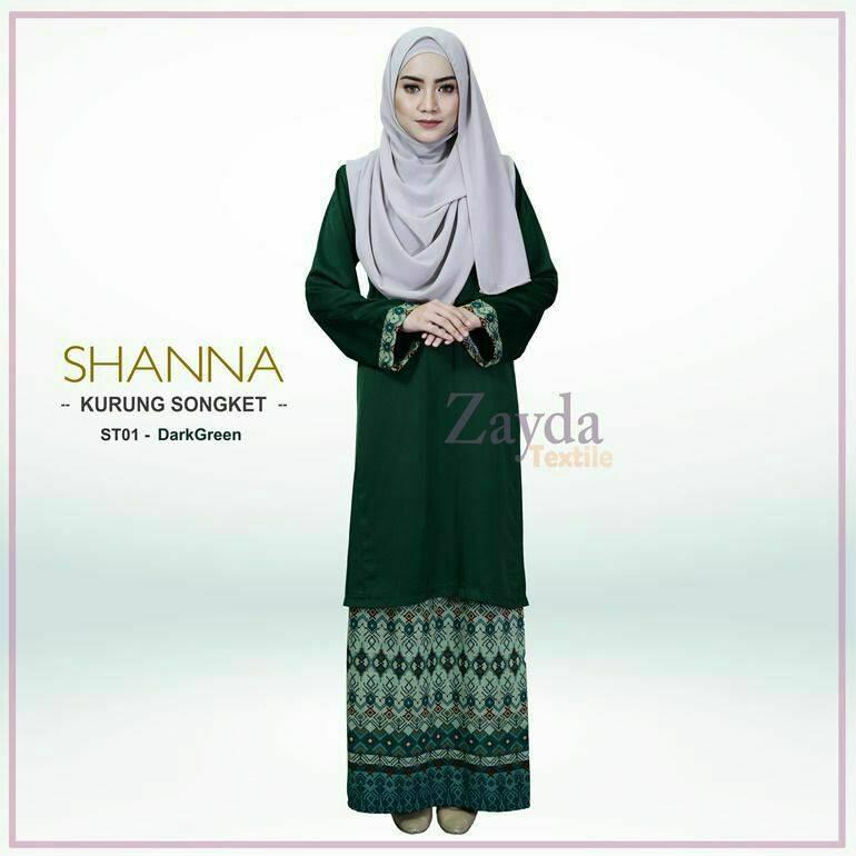 baju-kurung-songket-shanna-dark-green