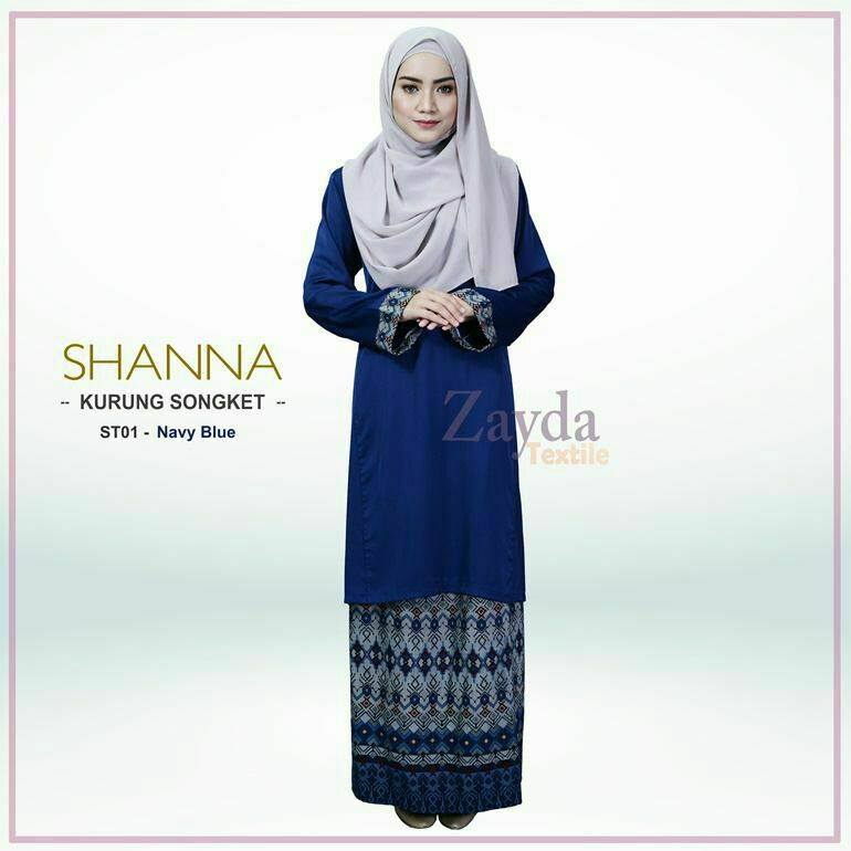 baju-kurung-songket-shanna-navy-blue