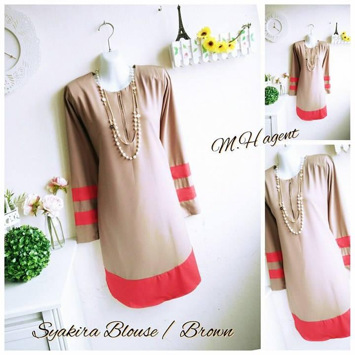 blouse-muslimah-moss-crepe-syakira-brown
