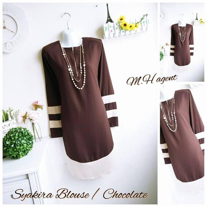 blouse-muslimah-moss-crepe-syakira-chocolate