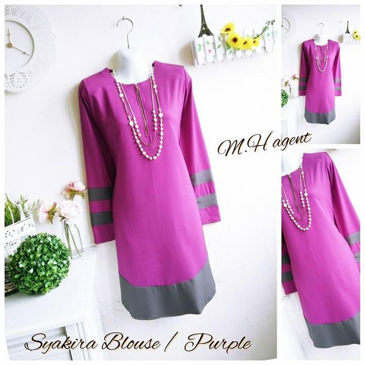 blouse-muslimah-moss-crepe-syakira-purple
