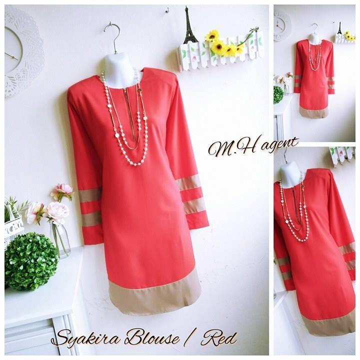 blouse-muslimah-moss-crepe-syakira-red