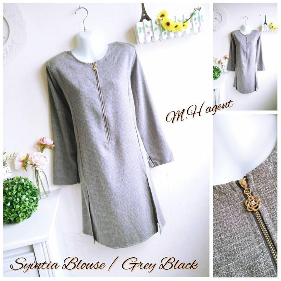 blouse-muslimah-syintia-grey-black