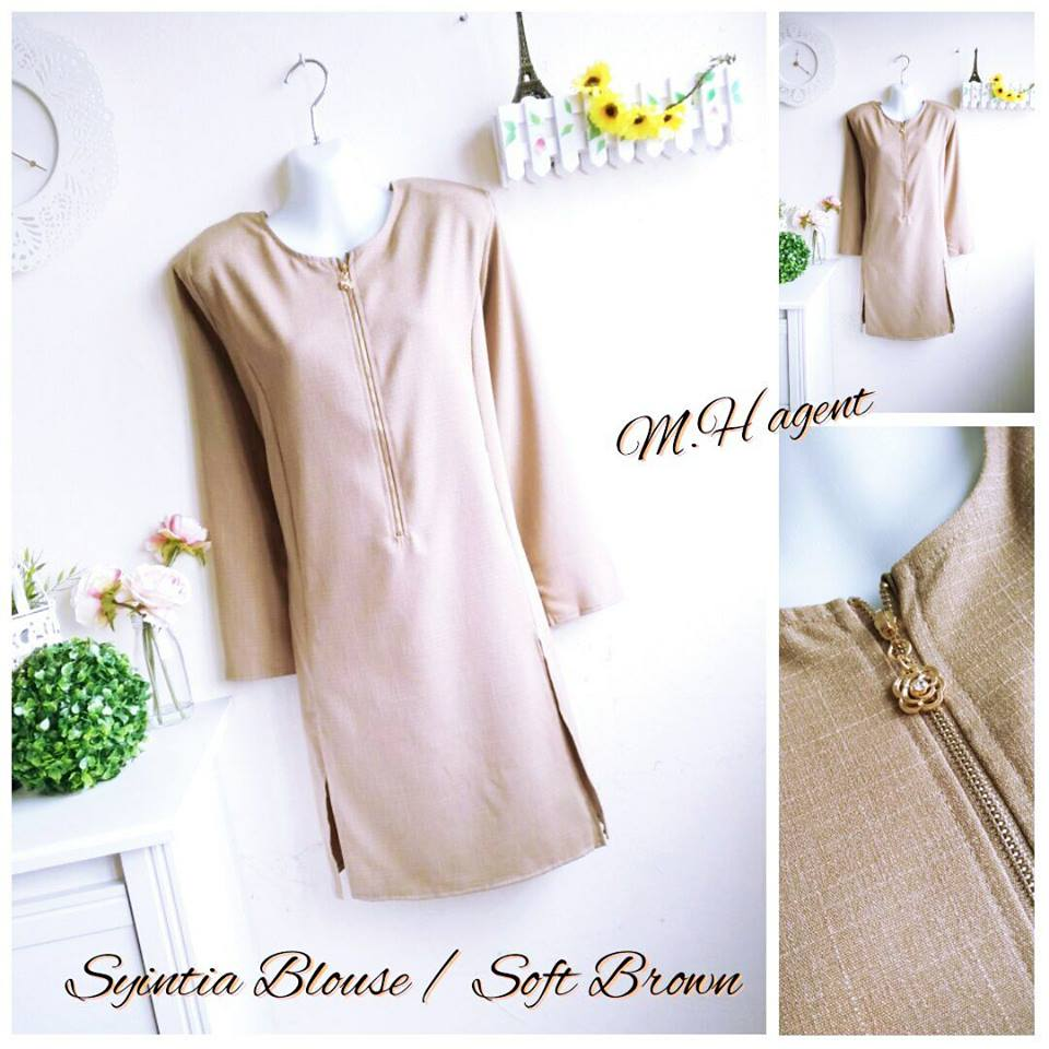 blouse-muslimah-syintia-soft-brown