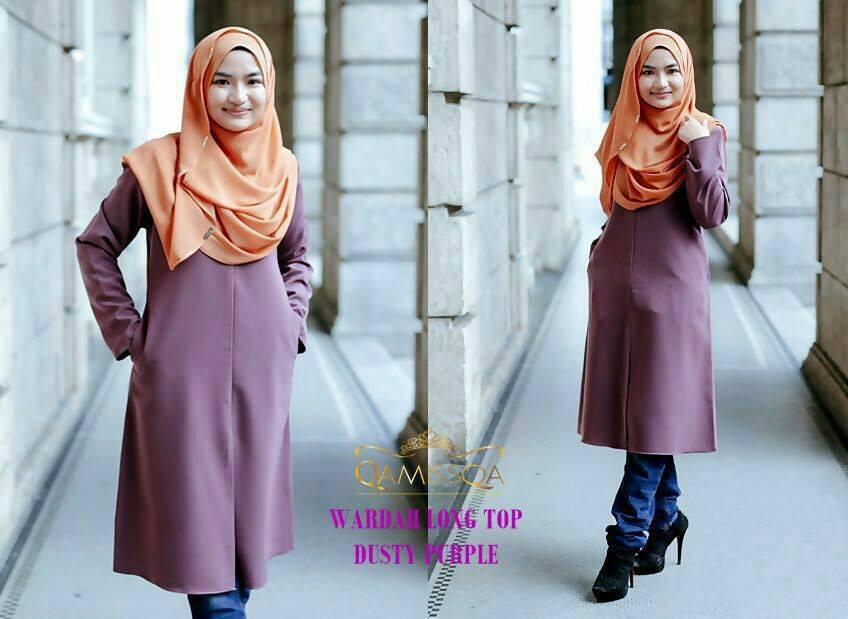 blouse-muslimah-wardah-dusty-purple