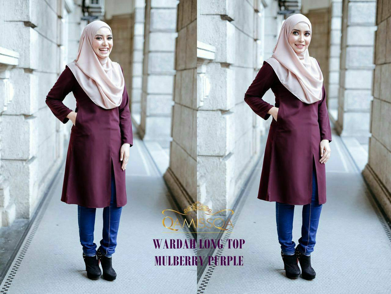 blouse-muslimah-wardah-mulberry-purple