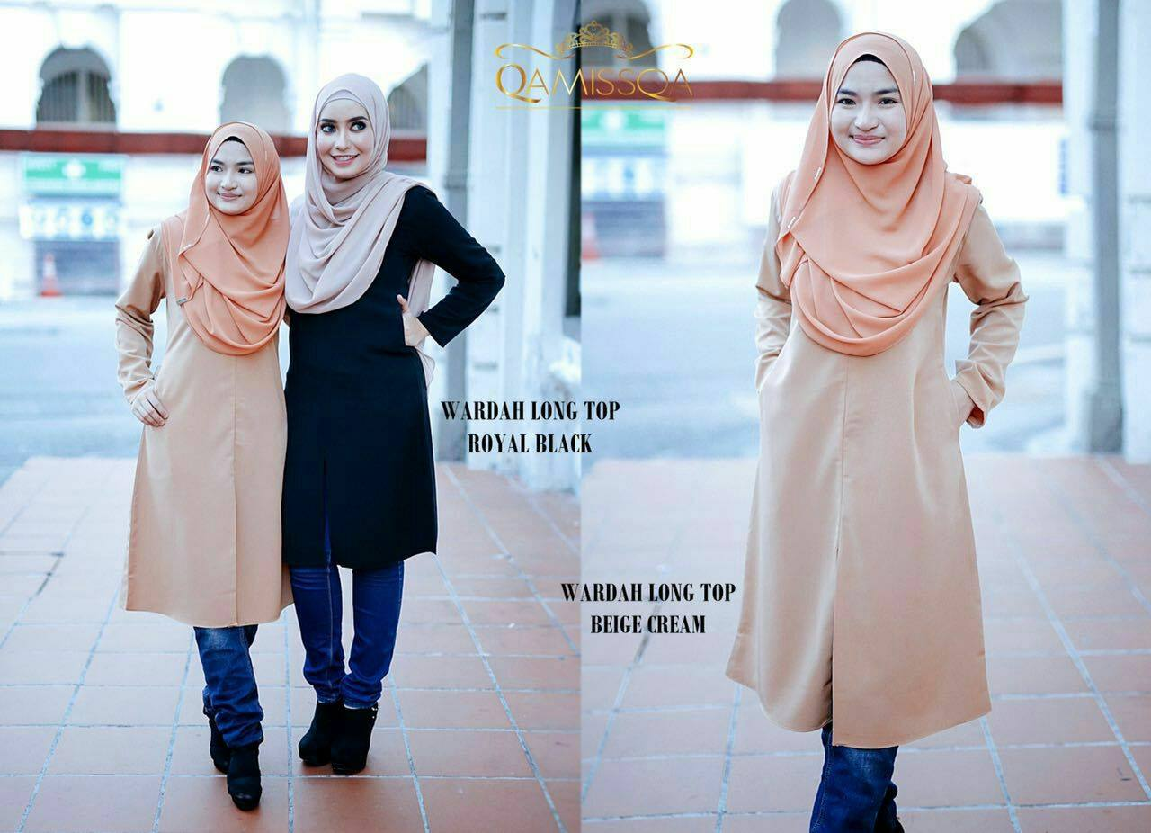 blouse-muslimah-wardah-royal-black