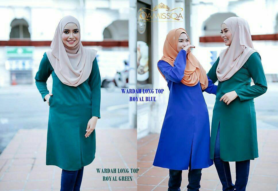 blouse-muslimah-wardah-royal-green