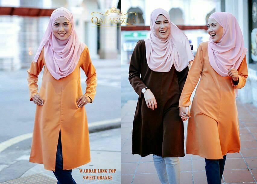 blouse-muslimah-wardah-sweet-orange