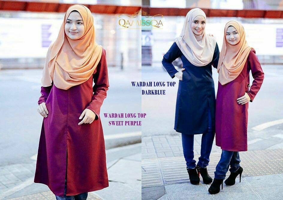 blouse-muslimah-wardah-sweet-purple