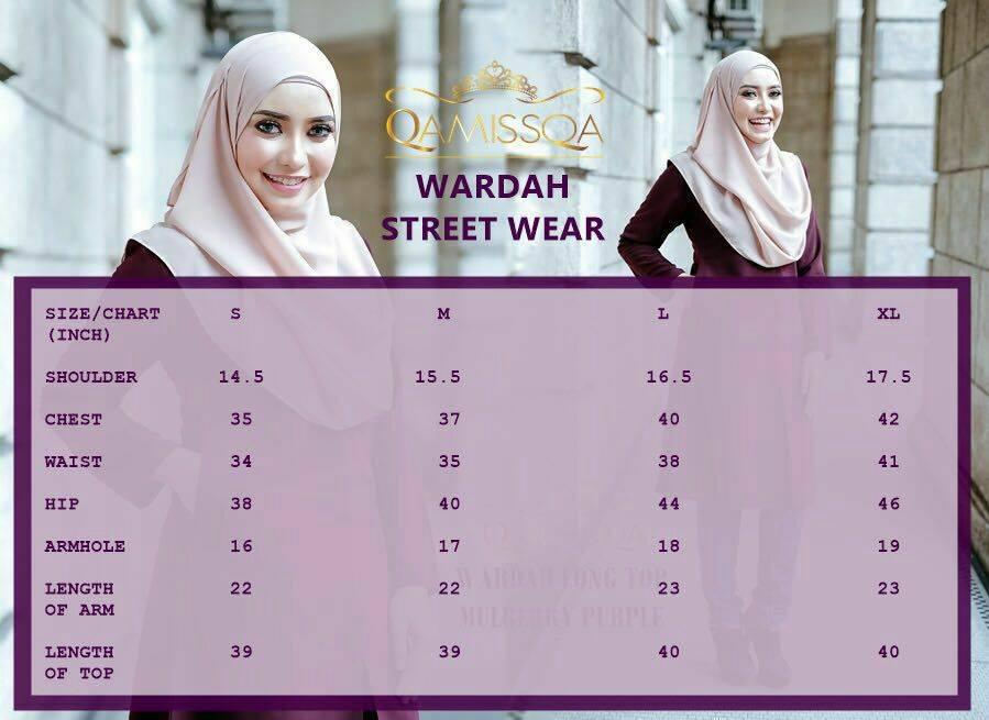 blouse-muslimah-wardah-ukuran