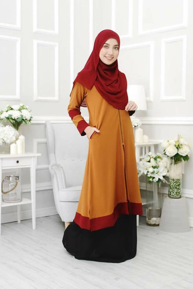 long-cardigan-tulip-gold-maroon-a