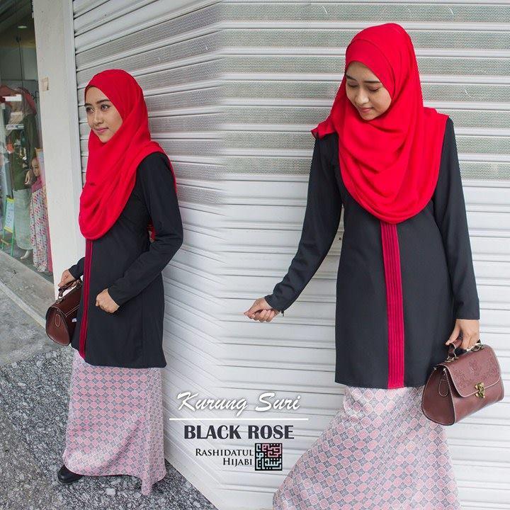 baju-kurung-suri-black-rose