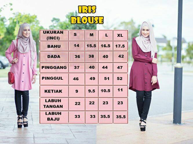 blouse-iris-ukuran