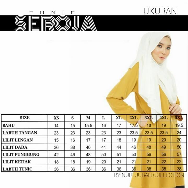 blouse-seroja-ukuran