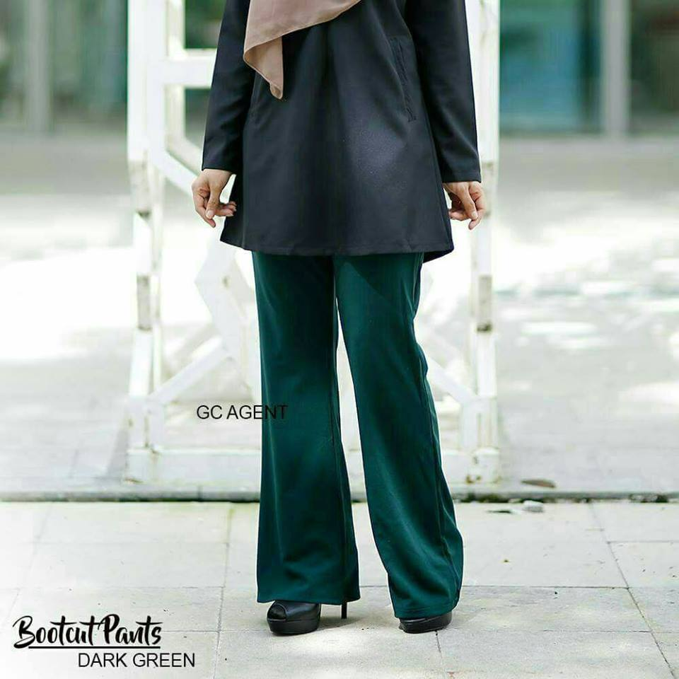 bootcut-pants-dark-green