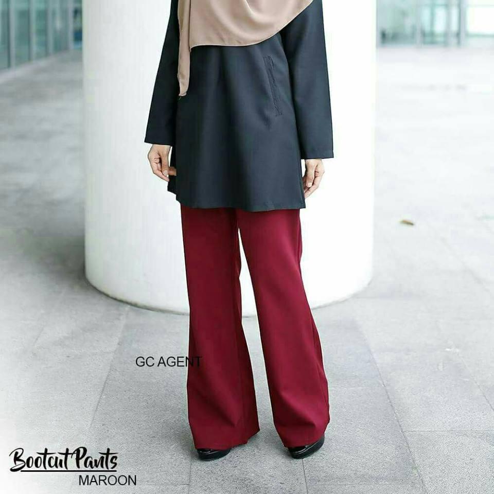 bootcut-pants-maroon