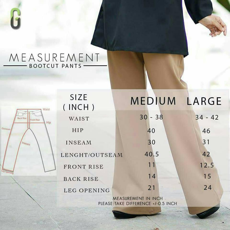 bootcut-pants-ukuran
