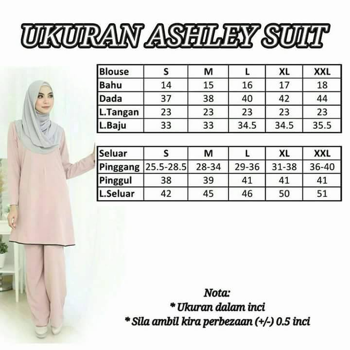 ashley-suit-ukuran