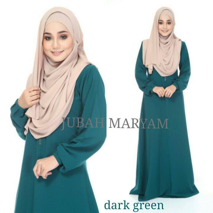 JUBAH MARYAM DARK GREEN