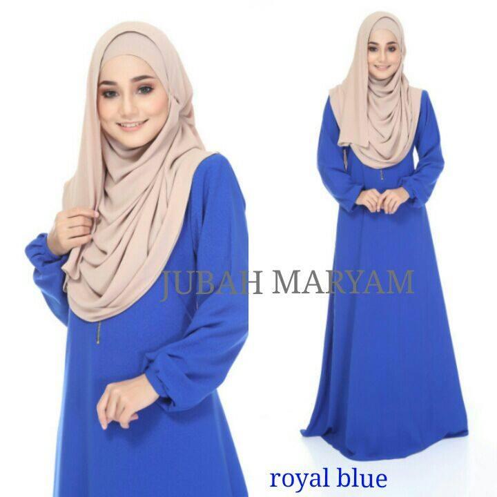 JUBAH MARYAM ROYAL BLUE