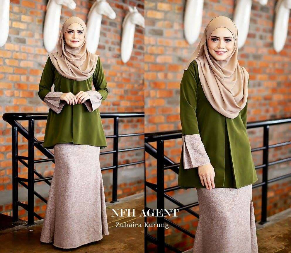 KURUNG TUNIC ZUHAIRA FOREST GREEN