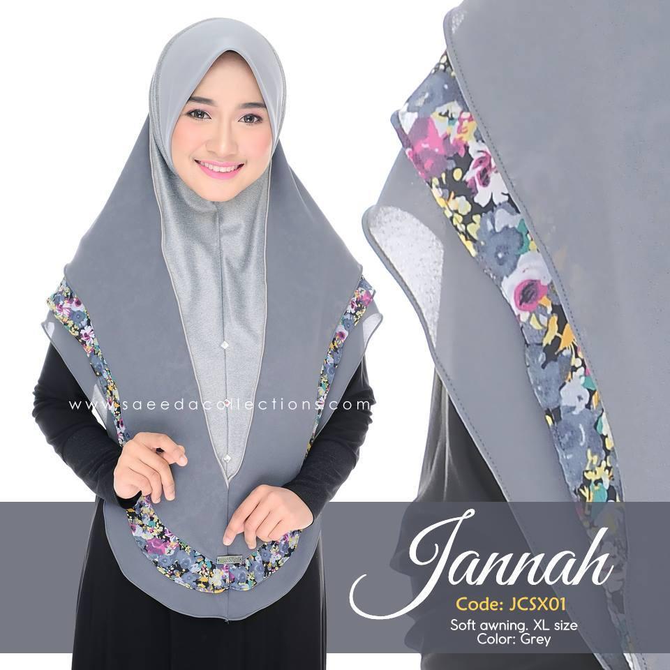 TUDUNG DENIM CHIFFON JANNAH SAIZ XL JCSX01