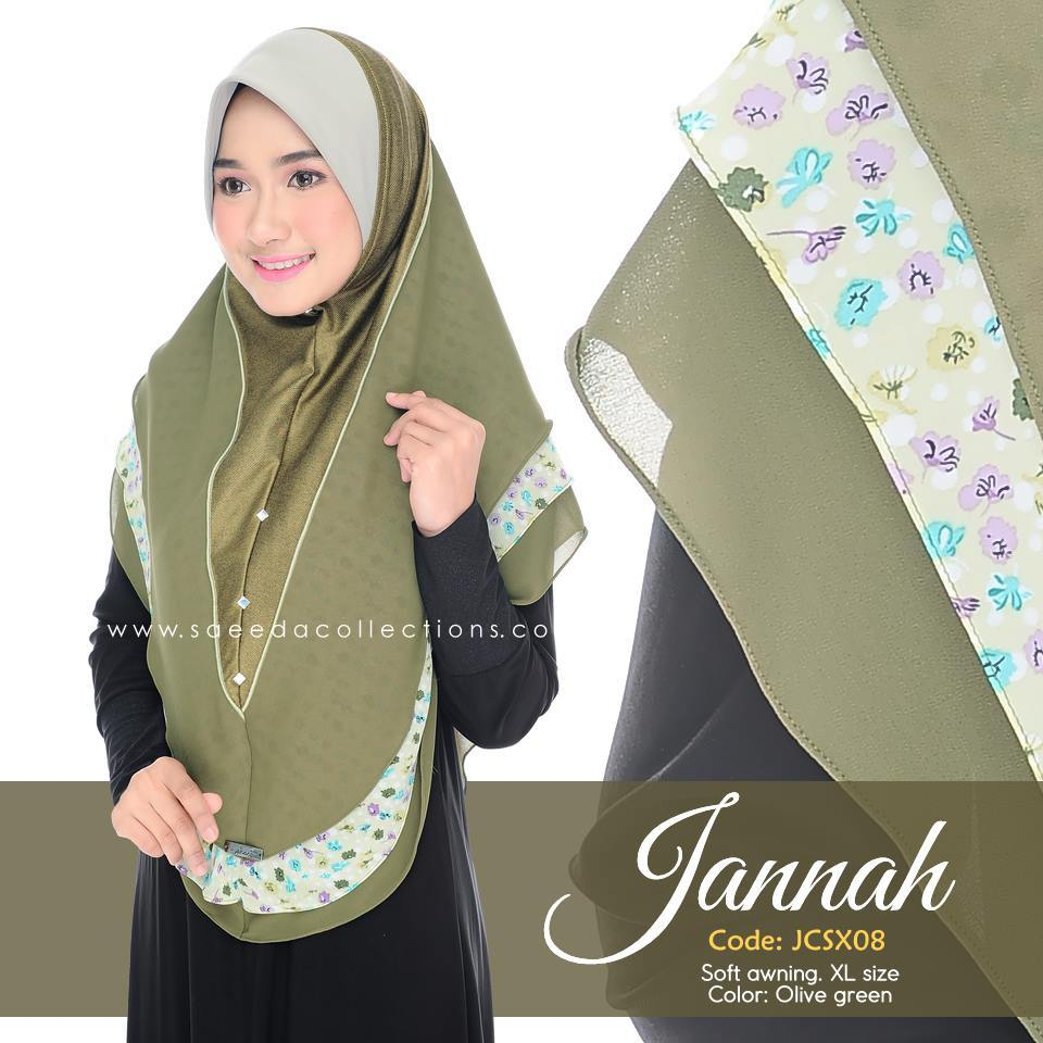 TUDUNG DENIM CHIFFON JANNAH SAIZ XL JCSX05