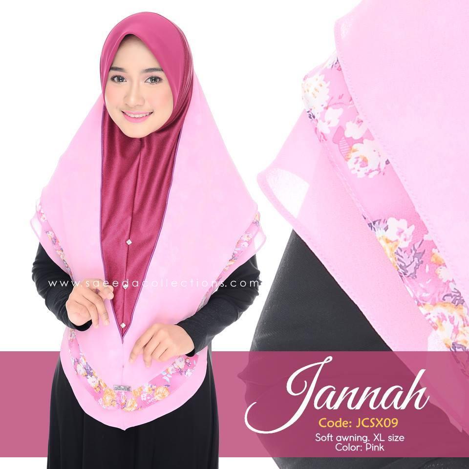TUDUNG DENIM CHIFFON JANNAH SAIZ XL JCSX09