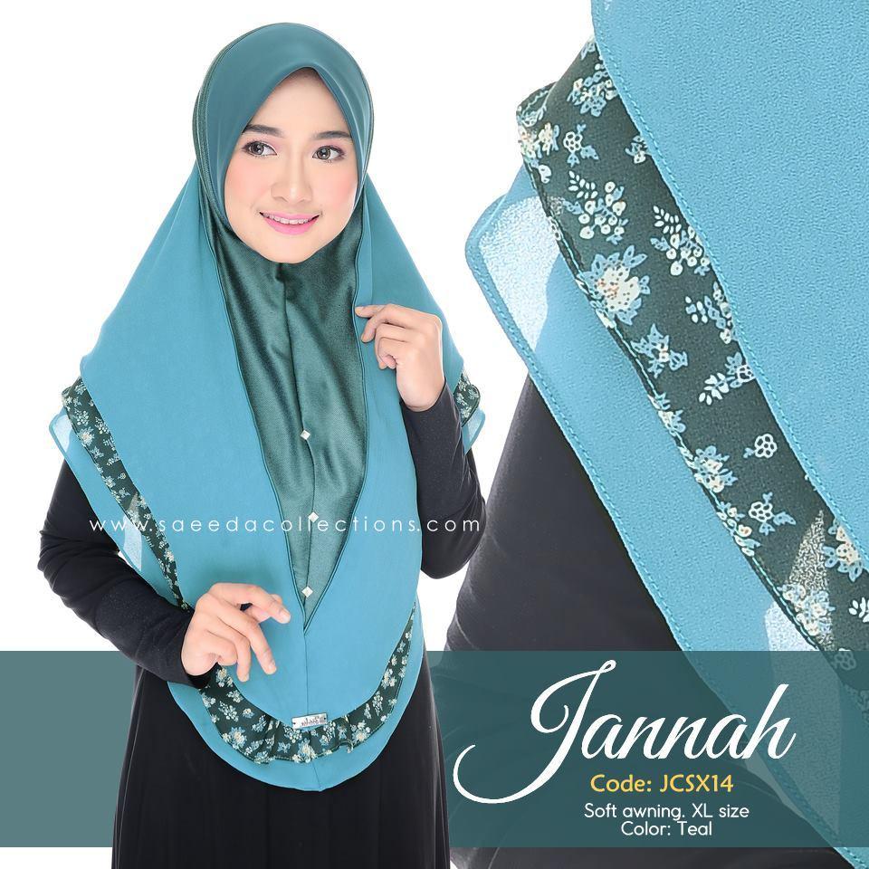 TUDUNG DENIM CHIFFON JANNAH SAIZ XL JCSX14