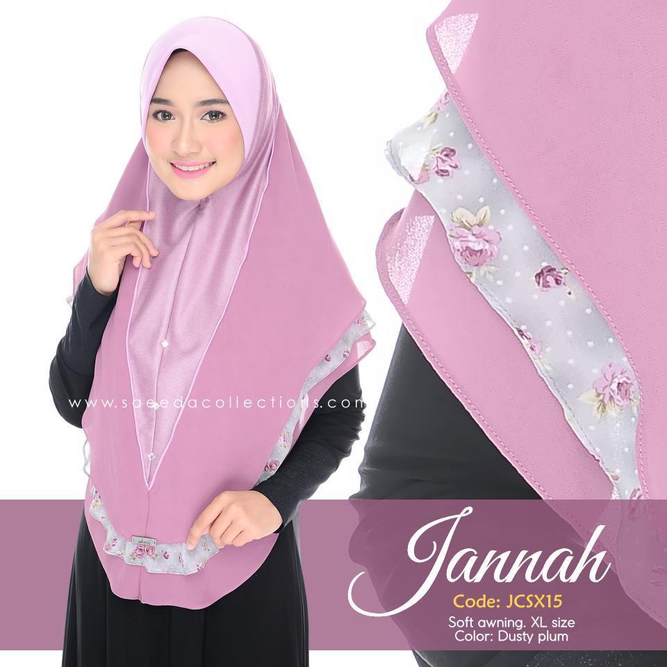 TUDUNG DENIM CHIFFON JANNAH SAIZ XL JCSX15