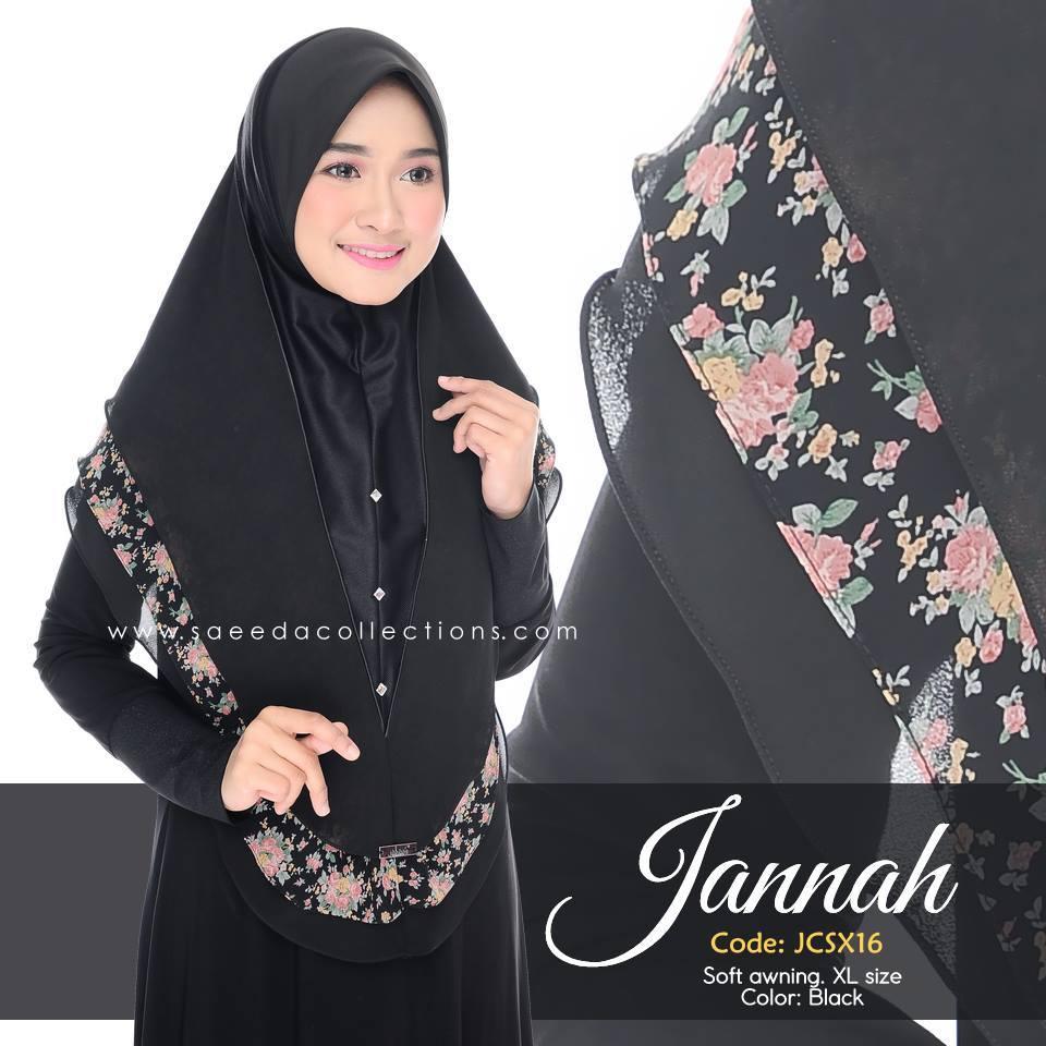 TUDUNG DENIM CHIFFON JANNAH SAIZ XL JCSX16