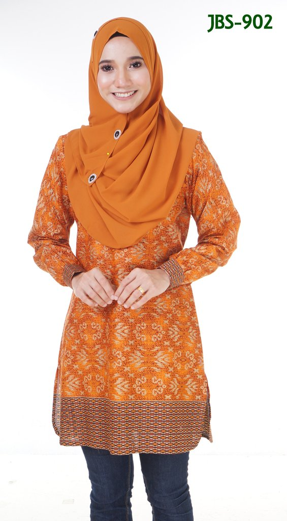BLOUSE MUSLIMAH COTTON SONGKET PRINTED JBS902