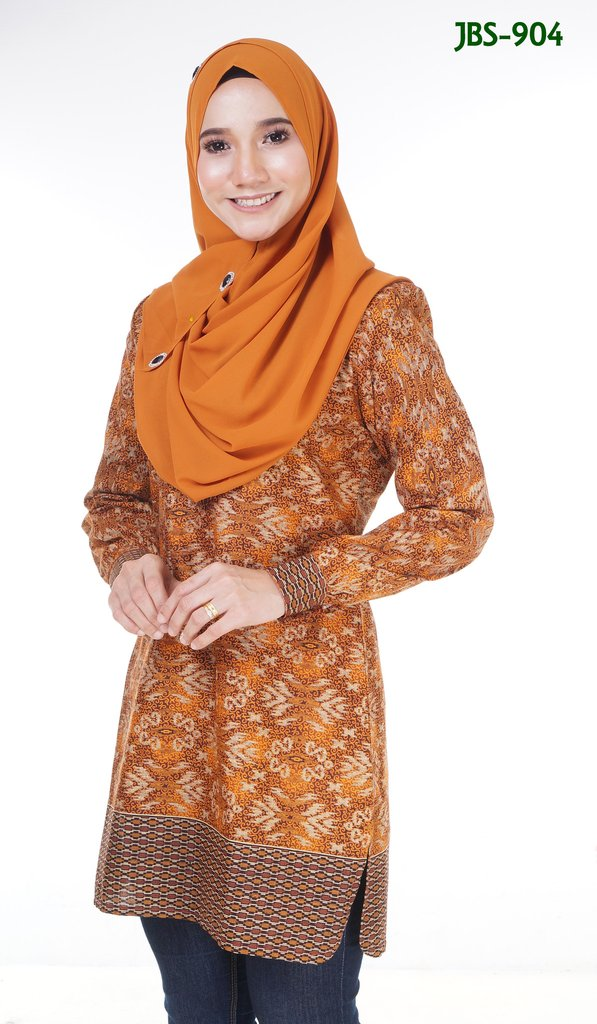 BLOUSE MUSLIMAH COTTON SONGKET PRINTED JBS904