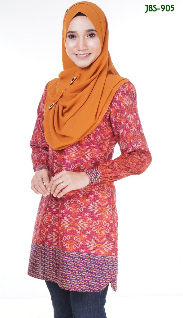 BLOUSE MUSLIMAH COTTON SONGKET PRINTED JBS905