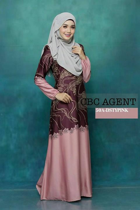 DRESS ADELIA 50A DUSTY PINK