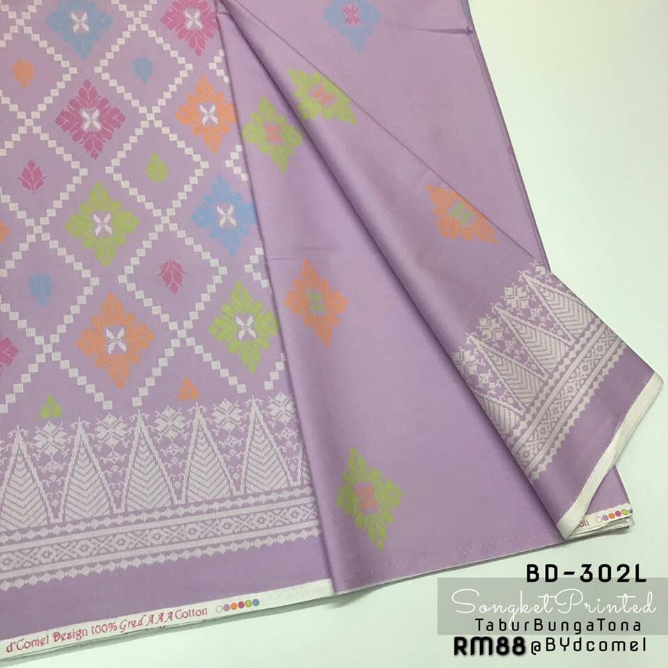 KAIN PASANG SONGKET COTTON BD302L D