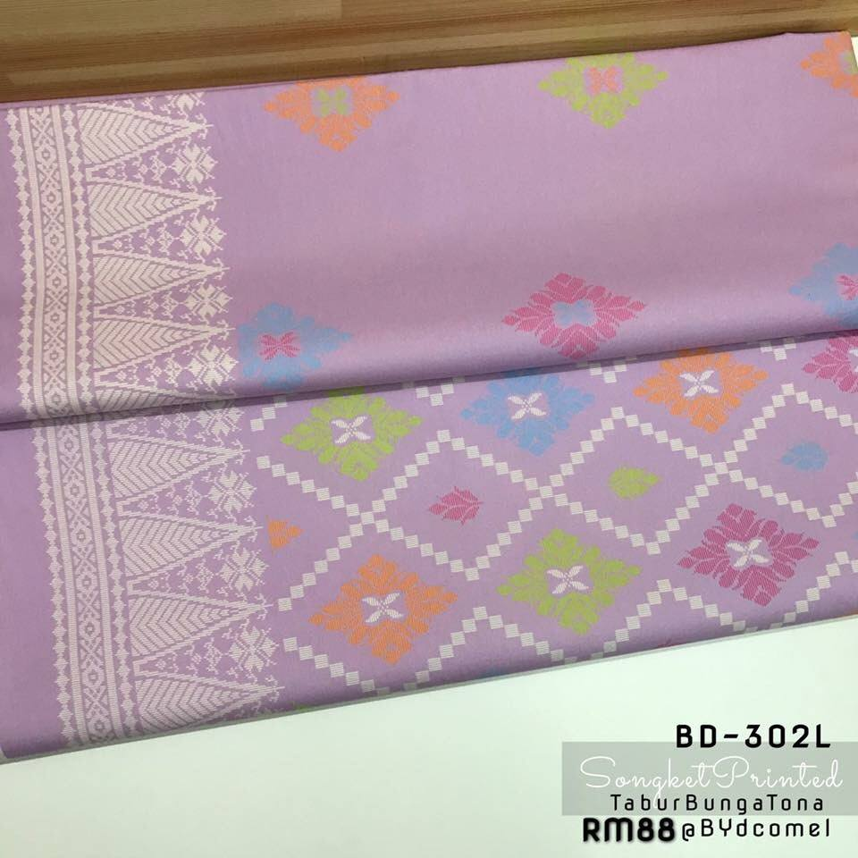 KAIN PASANG SONGKET COTTON BD302L